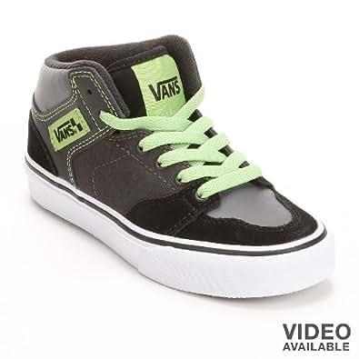 Vans black brooklyn mid top skate shoes boys for Vans amazon