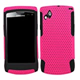 Samrick Twin Fuzion Protection Mesh Hard Cover Armour Shell Case and Soft Hydro Silicone Protective Case for Samsung S8530 Wave II - Pink