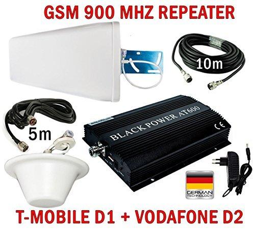 HUKITECH GSM Repeater Booster Verstärker AT600 für Handy T-Mobile D1 Vodafone D2 + Außenantenne + Omni Innenantenne + Montagezubehör