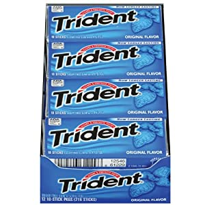 Trident Gum, Original Flavor, 18-Stick Packs (Pack of 12)