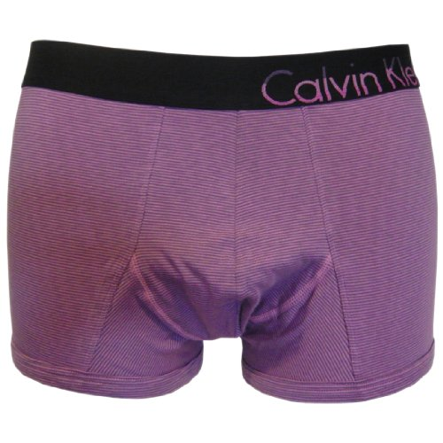 Calvin Klein Bold Cotton Trunk (Xlarge (40-42 Inches), Dual Stripe Purple Halo (Special Edition))