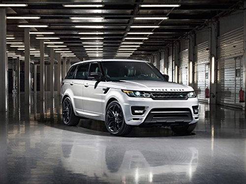 """Land Rover Range Rover Sport Stealth Pack (2014) Car Art Poster Print On 10 Mil Archival Satin Paper White Front Side Static View 20""""X16"""""""