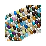 Gemstone Bead Mix 8mm Rondelle Beads 15 Inch Strand ~ UnCommon Artistry