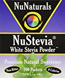 NuNaturals Nustevia White Stevia Powder, 100 Count