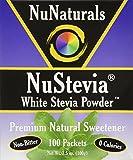 NuNaturals, NuStevia, sucre blanc en poudre, 100 paquets, 3,5 oz (100 g)