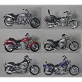 Set of 6 Maisto Die Cast Harley Davidson Motorcycles 1:18 scale