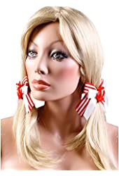 Sailor Girl Hair Bows (Red/White;One Size)