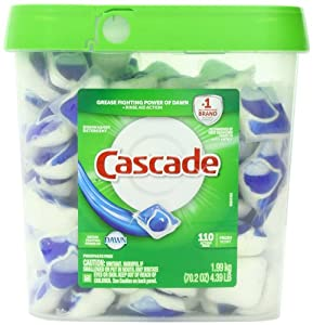 Cascade Actionpacs Dishwasher Detergent, Fresh Scent, 110 Count, 70.2 Ounce