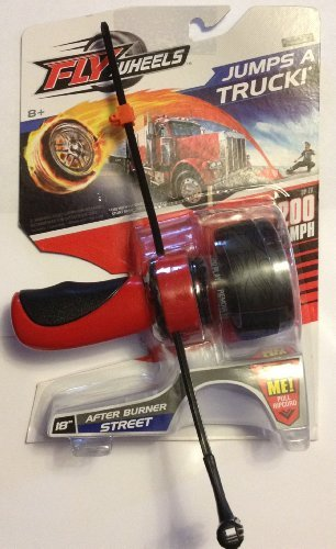 "Fly Wheels 18"" Street - ""After Burner"" with Tire, Ripcord & Handle (Red)"