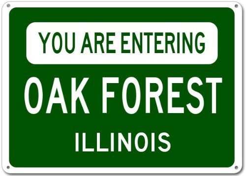 Oak Forest City Sign