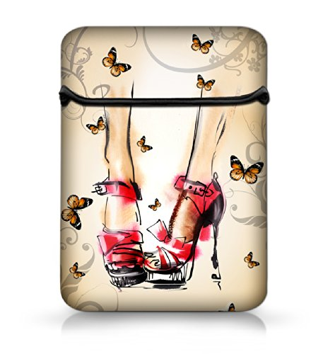 """New Arrival Ladies Shoes 12"""" Laptop Sleeve Case Netbook Flip Bag Pouch Cover For 11.6"""" Apple Macbook Air,Acer Aspire S7/Samsung Google 11.6"""" Chromebook Pc,Dell Inspiron 11Z 1110,12.1"""" Apple Ibook Pc,Dell Latitude E6230 Xt2 Xps Duo,Lenovo Ideapad,Asus Taic"""