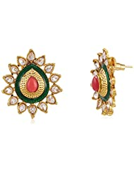 Sia Art Jewellery Stud Earrings For Women (Golden) (AZ2074)