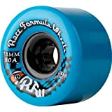 Sector 9 Race Formula Skateboard Wheels, Blue, 73mm 80A, (Pack of 4) by Sector 9