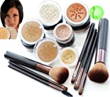 TAN SKIN Bare Face Affection Minerals Mineral Make up Foundation Full Cover Complete 13 piece set
