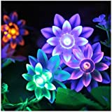 Innoo Tech LED Christmas String Lights Battery Operated Fairy Light for XMAS 40 LED Bulb Double-deck Lotus RGB Beads