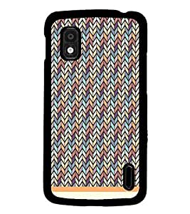 PrintDhaba Pattern D-1230 Back Case Cover for LG GOOGLE NEXUS 4 (Multi-Coloured)