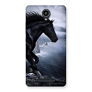 Special Premier Black Horse Back Case Cover for Redmi Note 2