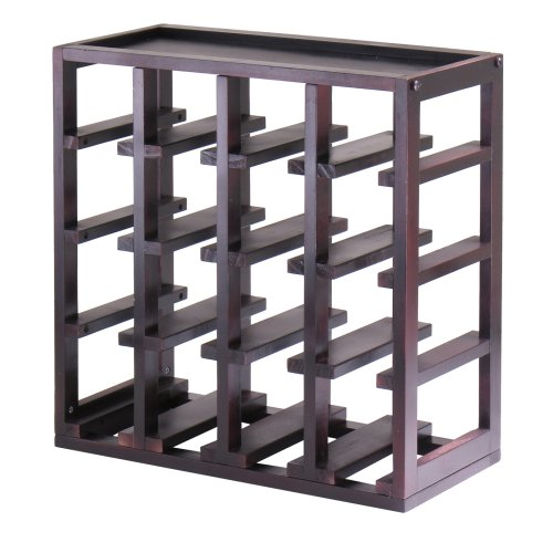 Winsome Wood Kingston Slot Wine Storage Cube front-597136