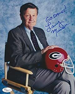 Larry Munson Signed Georgia Bulldogs 8x10 Photo COA - JSA Certified - Autographed... by Sports+Memorabilia