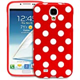 Galaxy S4 Case - Fosmon DURA Series SLIM-Fit Case Protective Skin Cover for Samsung Galaxy S4 IV / I9500 - Polka Dots (Red)