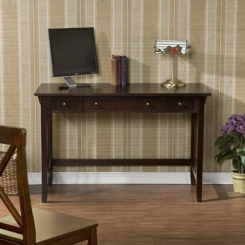 Buy Low Price Comfortable SEI Espresso Mission Computer Desk, , 47.25″ W x 22″ D x 30.25″ H (B002QW8GHY)