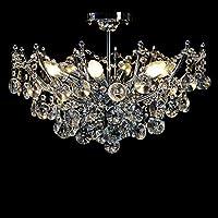 Dst Modern 6 Lights Clear Crystal Ceiling Light Pendant Chandelier Lamp for Living Room Dining Room Bedroom D50cm H36cm from Dst