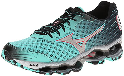 Mizuno Women's Wave Prophecy 4 Running Shoe, Florida Keys/Silver, 7.5 B US