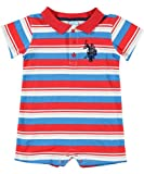 "U.S. Polo Assn. ""Rockville"" Romper (Sizes 0M - 9M)"