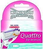 Wilkinson - 70041430 - Quattro for Women - Pack de 3 Recharges