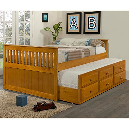 Donco kids captains twin trundle bed best deals toys Best deal on twin mattress
