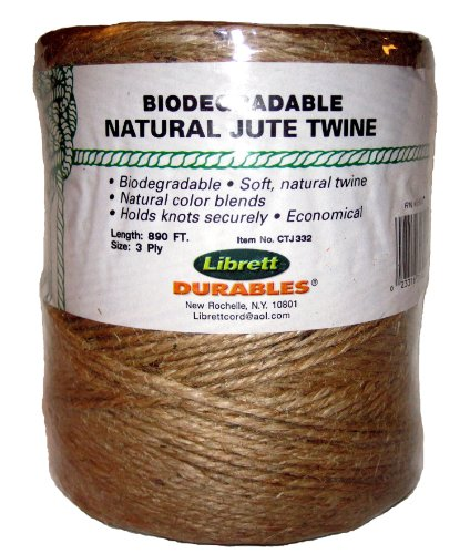 Buy Librett Biodegradable Natural Jute Twine, 890 FT - 32oz - 3 Ply