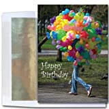 Birthday Cards - Balloons Afoot, box of 10 cards and envelopes