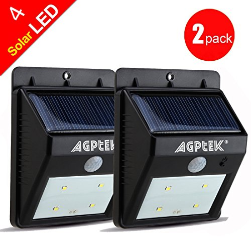 AGPtEK® Solar Powered Wireless LED Security Motion Sensor Light Outdoor Wall/Garden Lamp / Motion Sensor-Detector Activated with Dusk to Dawn Dark Sensing Auto On / Off Function for Patio, Deck, Yard, Garden, Home, Driveway, Stairs solar motion sensor light with 60 led rechargeable wireless led security lights with 3 modes for garden patio yard driveway