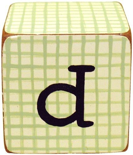 New Arrivals Letter Block D, Green/White