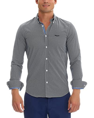 GALVANNI Camisa Hombre Nalin Azul