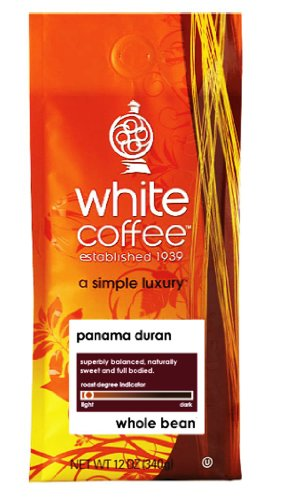 White Roasted Coffee Panama Duran Whole Bean 12-Ounce Bags Pack of 3B001D21LT8 : image
