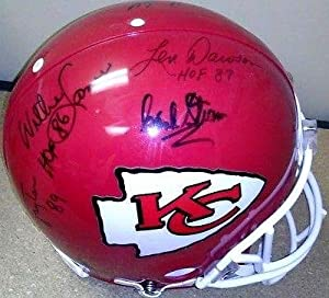 1969 Kansas City Chiefs Signed Full Size Helmet Super Bowl IV PSA COA 1A49321 -... by Sports Memorabilia