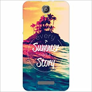 Micromax Canvas Juice 2 - Silicon Summer Story Phone Cover