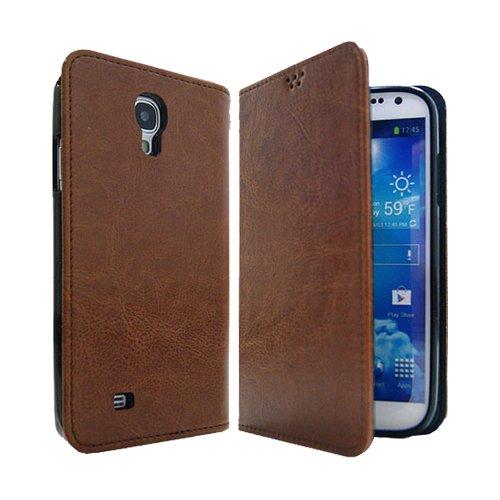 Galaxy S4 / ギャラクシー S4 (SC-04E) 対応 ケース P2J Antique Leather Flip Wallet / フォントゥージョイ アンティーク レザー フリップ ウォレット 手帳型 ケース Brown / ブラウン