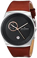 Skagen Men's SKW6085 Havene Quartz/Chronograph Stainless Steel Dark Brown Watch from Skagen