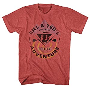 Bill And Ted Movie Funny Comedy Bill & Ted Bolt Adult T-Shirt Tee