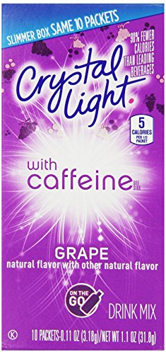 Crystal Light On-the-Go Drink Mix, Grape, 0.11-Ounce Packets (Pack of 120) (Crystal Light Grape Caffeine compare prices)
