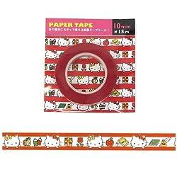 Original Sanrio Japan Hello Kitty Design Decorative Mini Paper Tape (L-15m X W1cm)