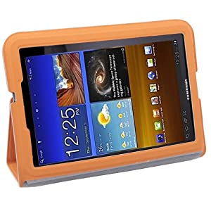 """New Ultra-thin Folio PU Leather Case Skin Cover for Samsung Galaxy Tab 7.7"""" P6800 Gray"""