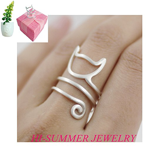 Hi-summer-Innovative-Lovely-Cat-Kitty-Sterling-Silver-Ring-GIFT-BOX-PACKING-PLANTS-MAGNET-FREEBIES