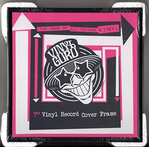 Vinyl Guru - Cornice per dischi in vinile da 45 giri, 17,8 cm, in alluminio, 3 pezzi, colore: nero