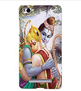 ColourCraft Lord Ram and Bhakt Hanuman Design Back Case Cover for XIAOMI MI 4I