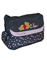 Pooh Floral Print Large Flap Grey And Pink Style N* Db30082