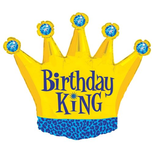 Costumes 205059 Birthday King Foil Balloon - 1