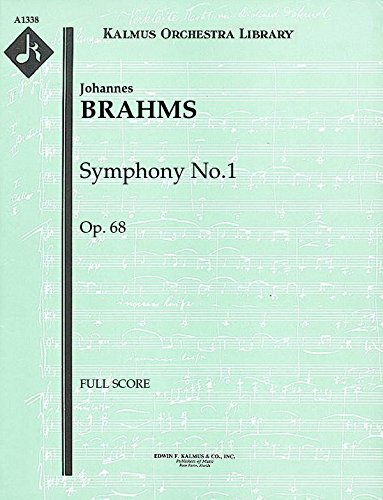 Symphony No.1, Op.68: Full Score [A1338] (Gal Symphonies compare prices)